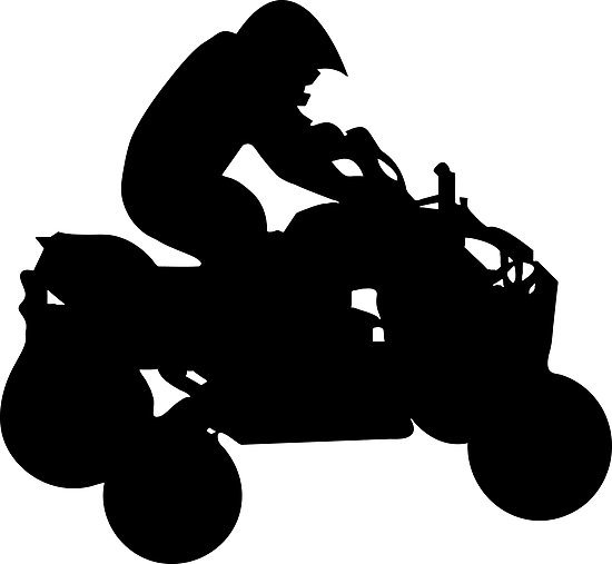 photographic print by. Atv clipart silhouette