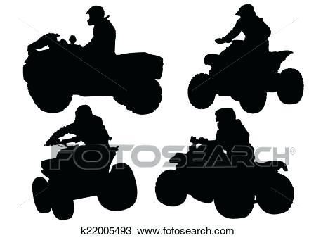 Races search clip art. Atv clipart silhouette