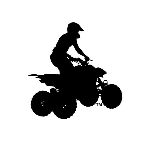 Atv clipart silhouette. Car cartoon motorcycle