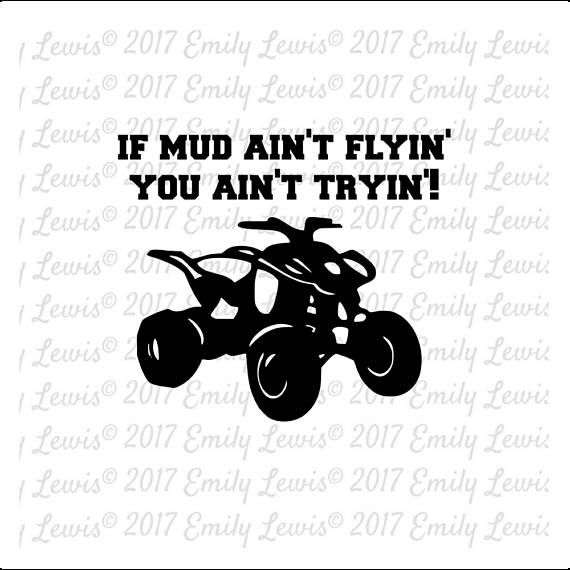 Four wheeler quote svgs. Atv clipart svg