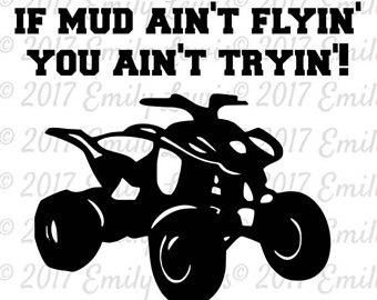 Etsy four wheeler quote. Atv clipart svg