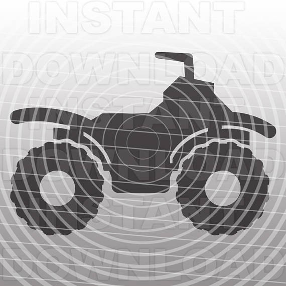 Atv clipart svg. File quad wheeler vehicle