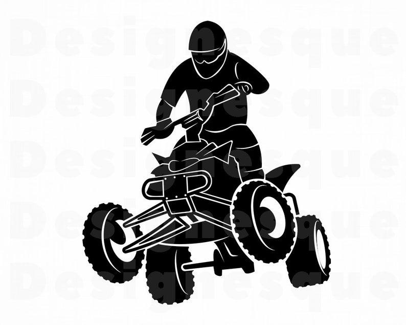 Atv clipart svg. Wheeler motocross files for