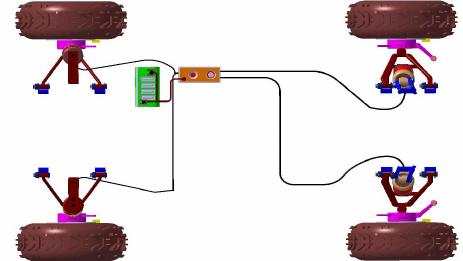 Figure of scientific diagram. Atv clipart top view