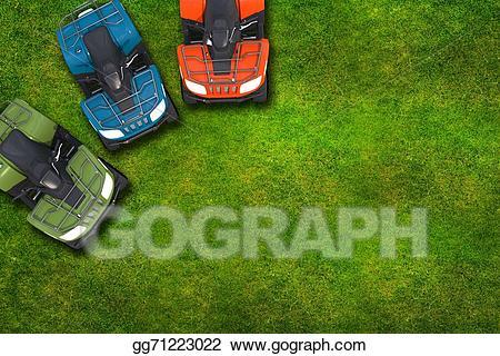 Stock illustration quad bikes. Atv clipart top view