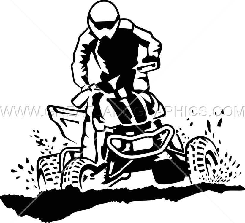 Getting dirty production ready. Atv clipart transparent
