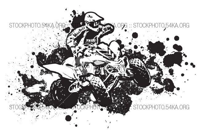 Atv clipart vector. Graphics and white wheel