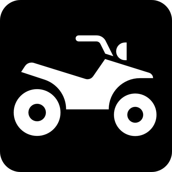 All terrain vehicle clip. Atv clipart vector