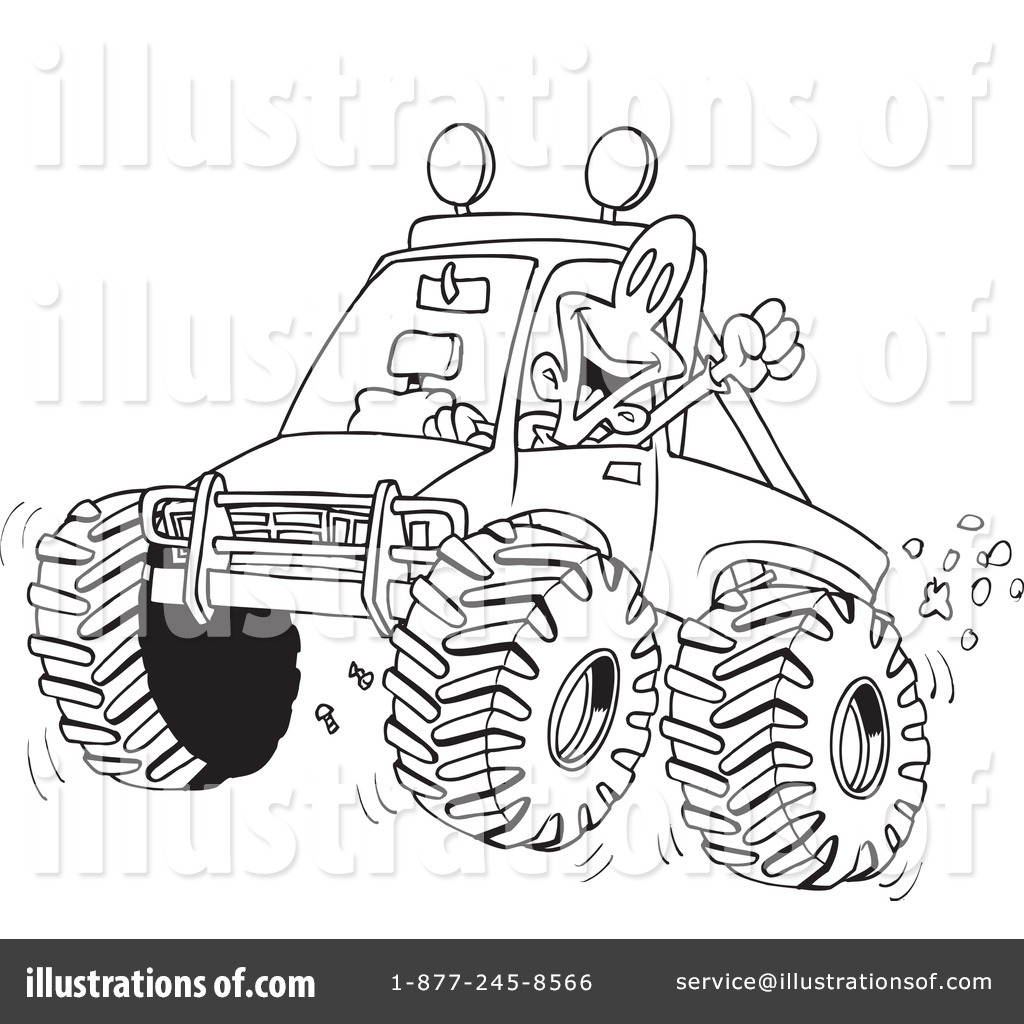 Four illustration by toonaday. Atv clipart wheeling