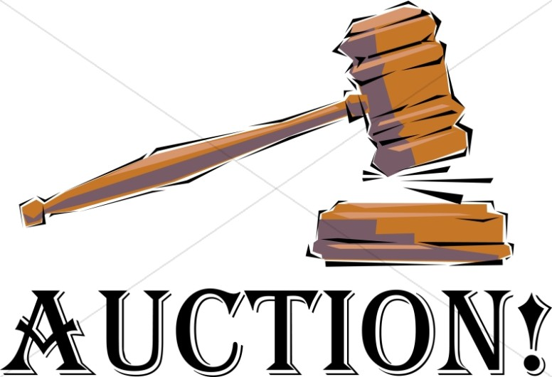 Auction clipart church. Auctioneer s gavel word