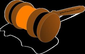 Gavel color orange at. Auction clipart clip art