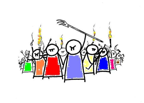 Audience clipart angry. Thirsty thursday a mob