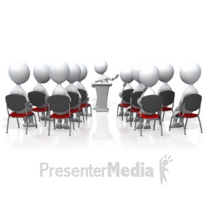 Presenter media powerpoint templates. Audience clipart animated