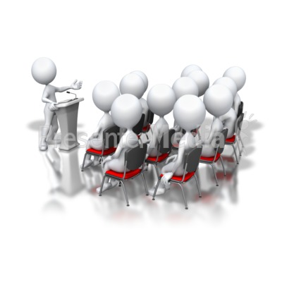 Audience clipart animated. Presenter media powerpoint templates
