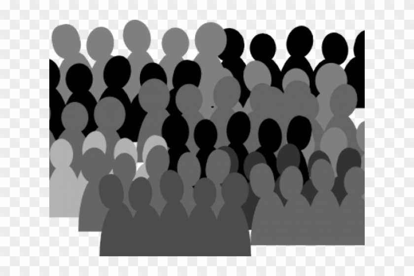 Silhouettes small crowd of. Audience clipart animated