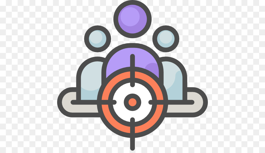 Market marketing icon shooting. Audience clipart audience target