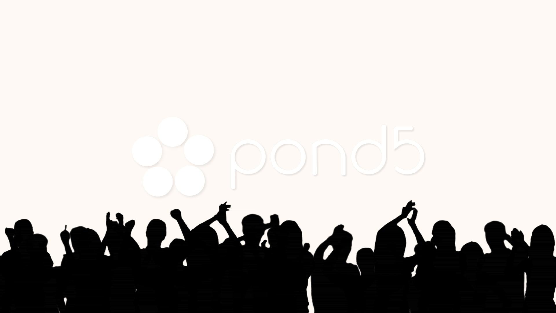 Shadow concert clip art. Audience clipart big crowd