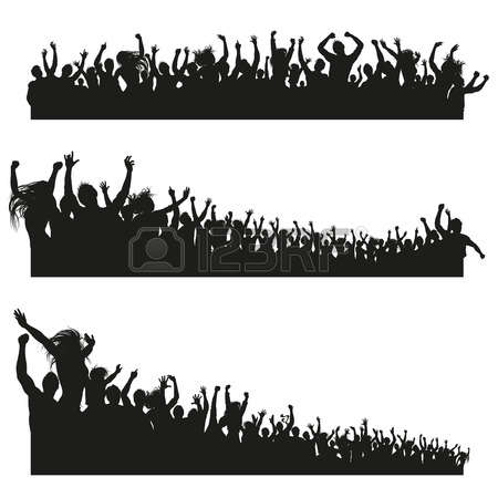 Audience clipart big crowd. Pinart illustration of an