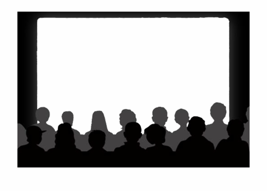 Crowd clipart theatre audience. Cinema theater show movie