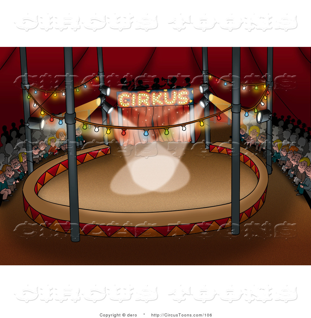 Of an people waiting. Audience clipart circus
