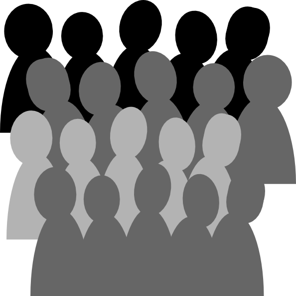 Community clipart silhouette. Crowd of people panda