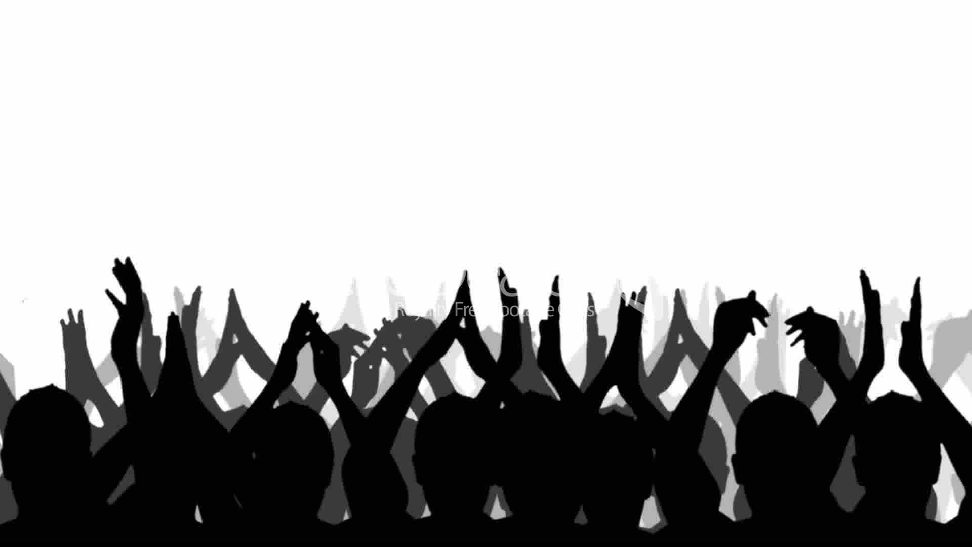 Crowd outline pencil and. Applause clipart concert