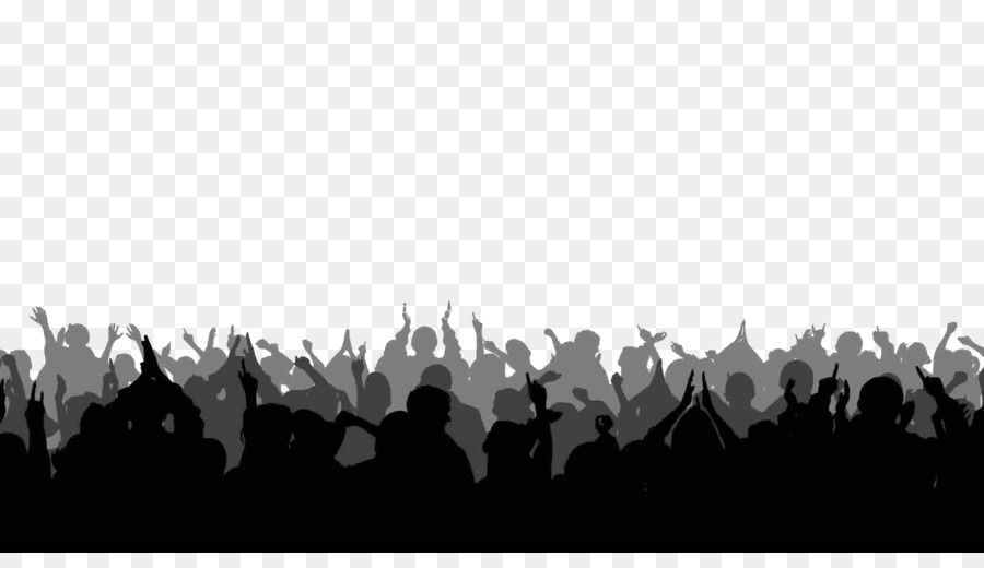 Crowd clipart. Silhouette stock footage clip