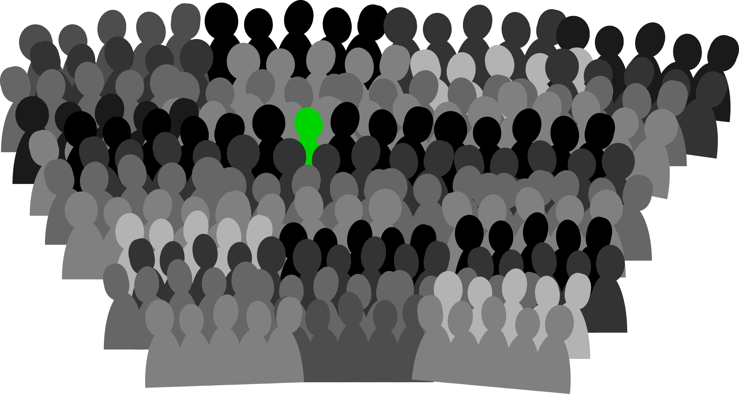 Panda free images audience. Crowd clipart