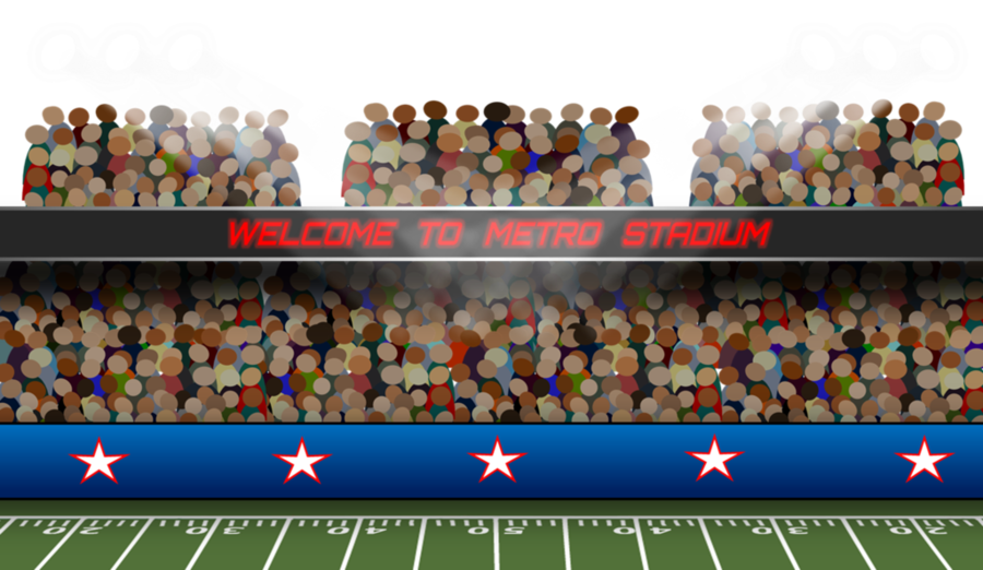 Pitch team games crowd. Audience clipart football