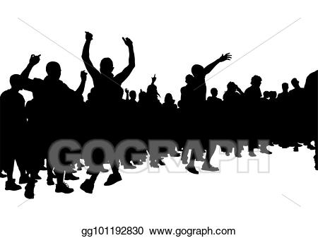 Vector hooligans crowds one. Audience clipart football