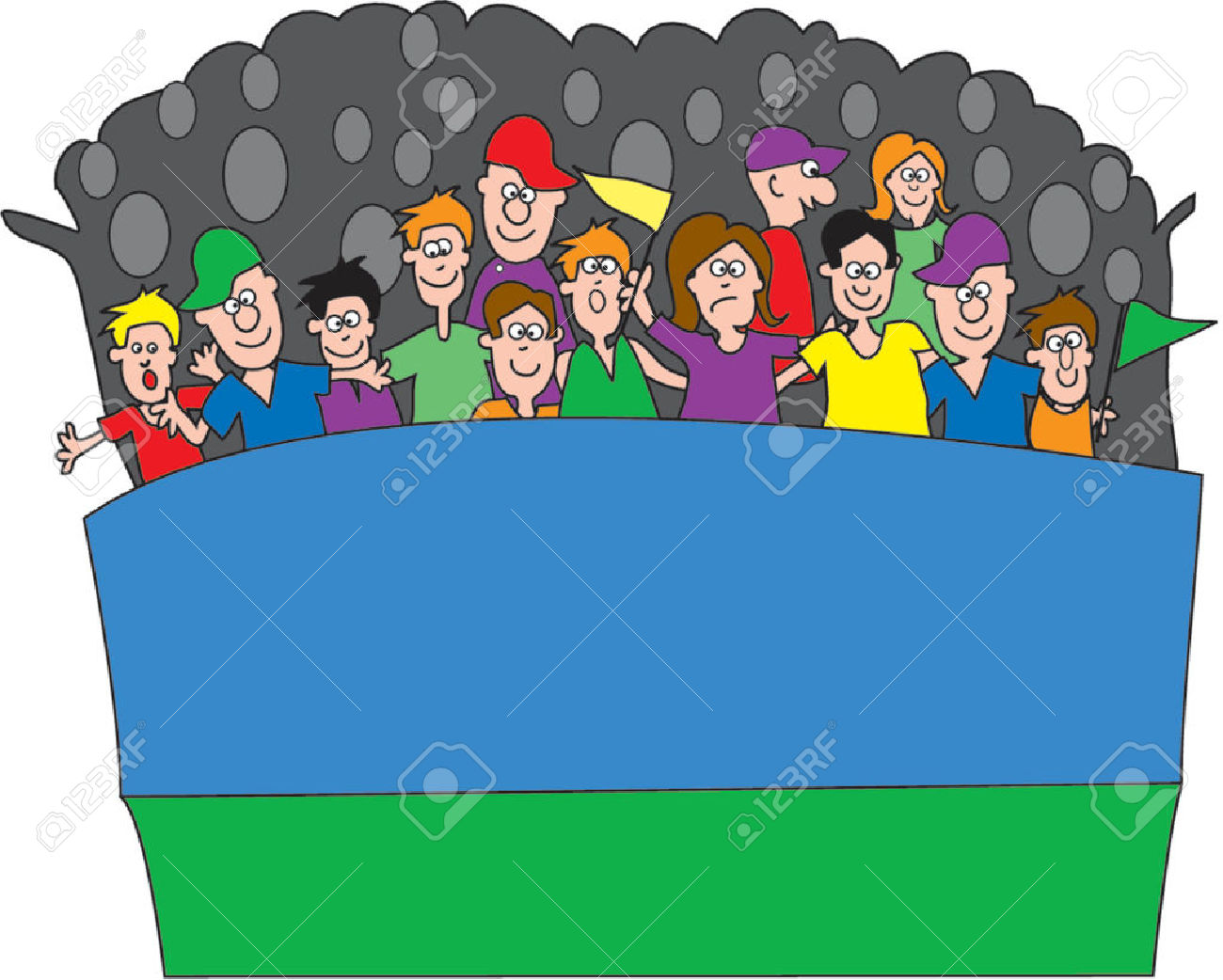 Audience clipart football.  collection of cheering
