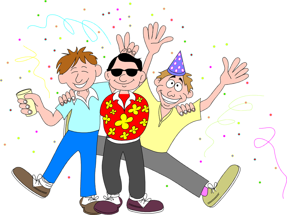People clipart celebration. Trumcongfetes target audience celebrations
