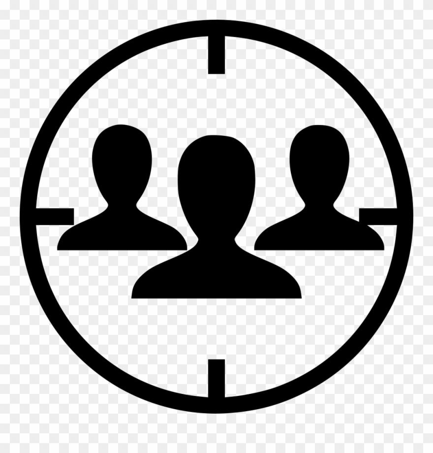 Audience clipart icon. Png free targeted