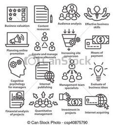 Vector business management icons. Audience clipart icon