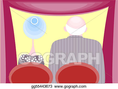 Audience clipart icon. Eps vector stock illustration