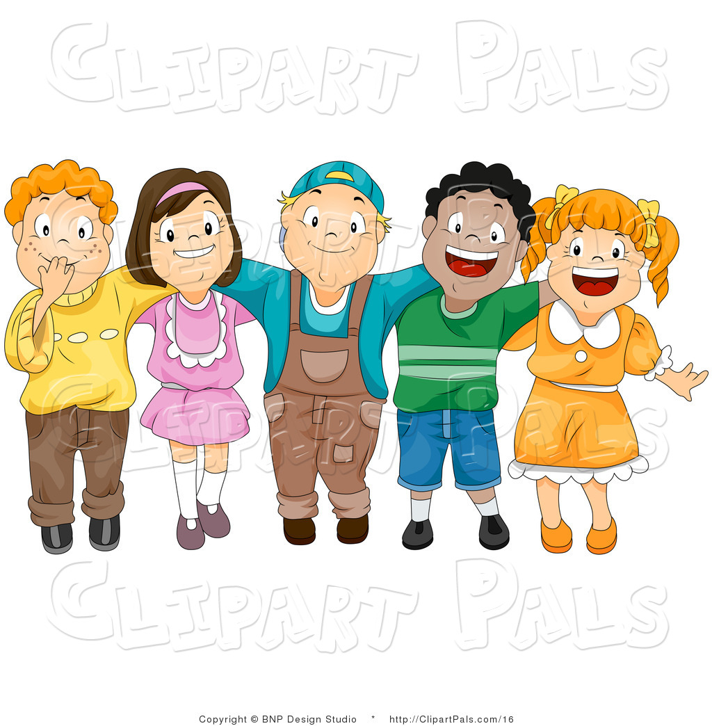 Friendship clipart many friend. Happy children free download