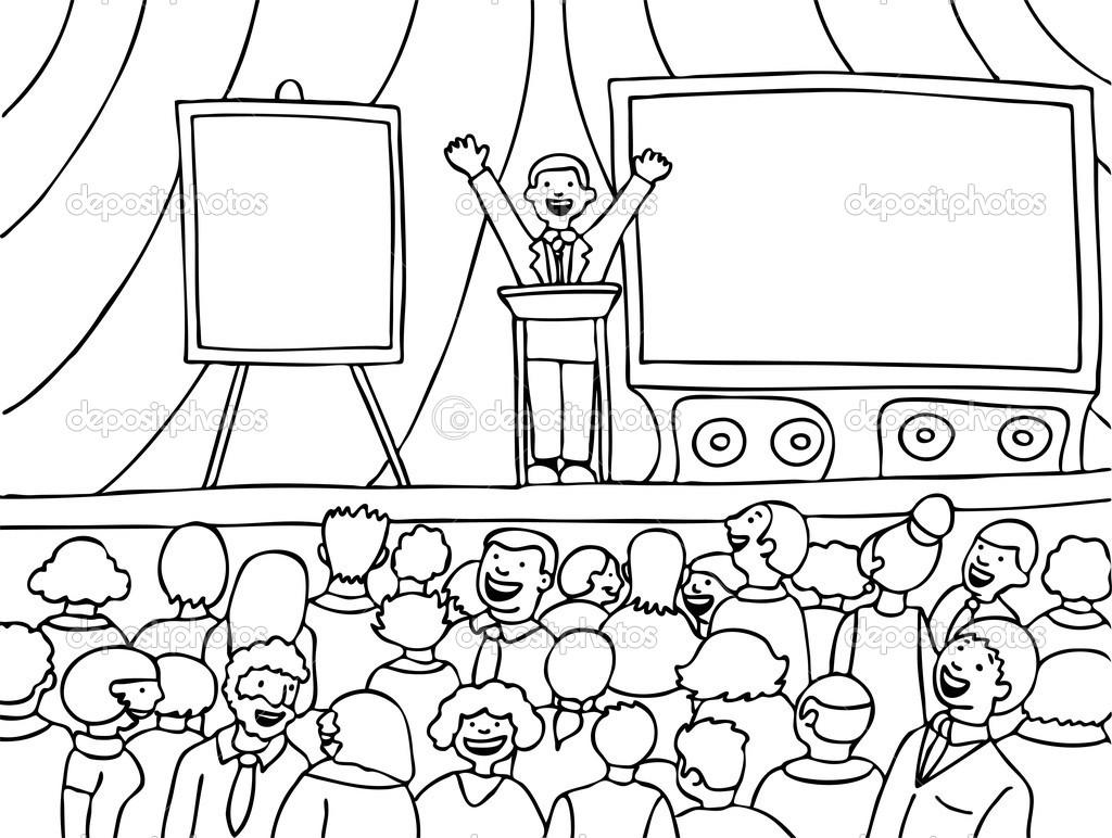 Audience clipart line art. Public speaking printingbrochures info