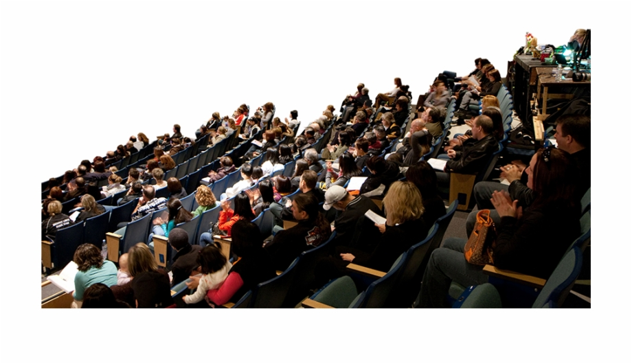 Crowd clipart movie audience. People png free