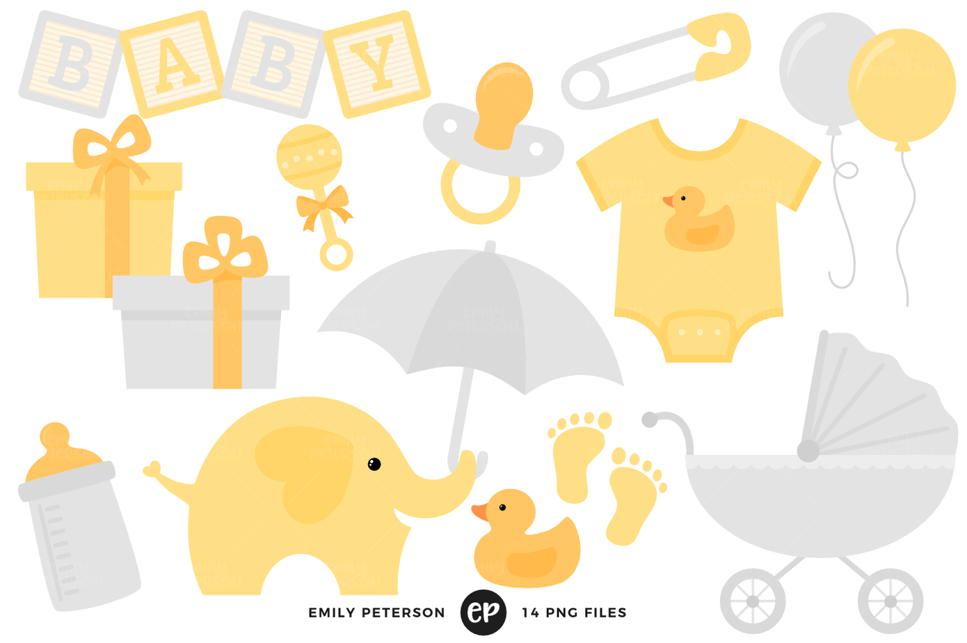 Baby clipart gender neutral. Shower by emily peterson