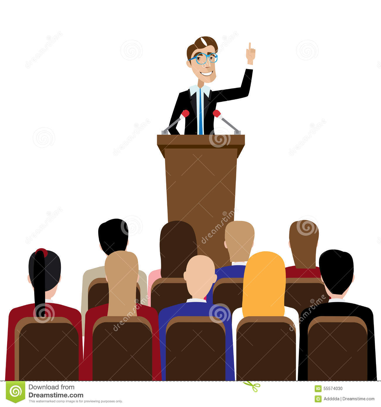 Audience clipart public. Speaking station