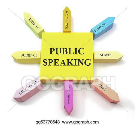 Stock illustration speaking sticky. Audience clipart public