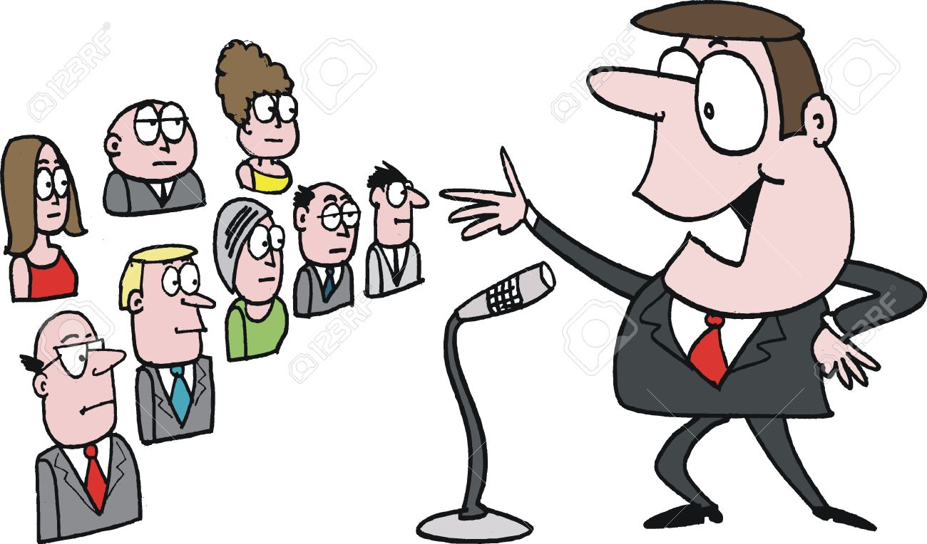 Speaking station . Audience clipart public