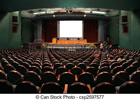 Pencil and in color. Audience clipart school auditorium
