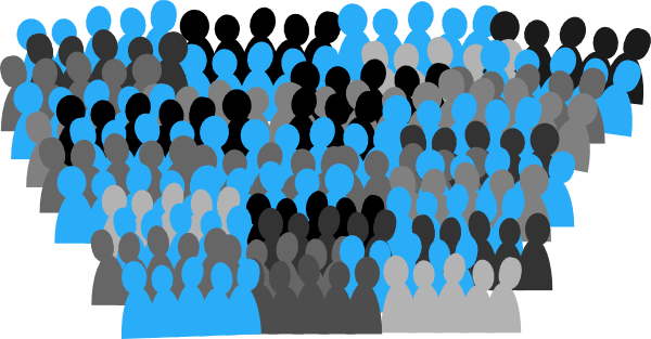 Crowd clipart. Audience
