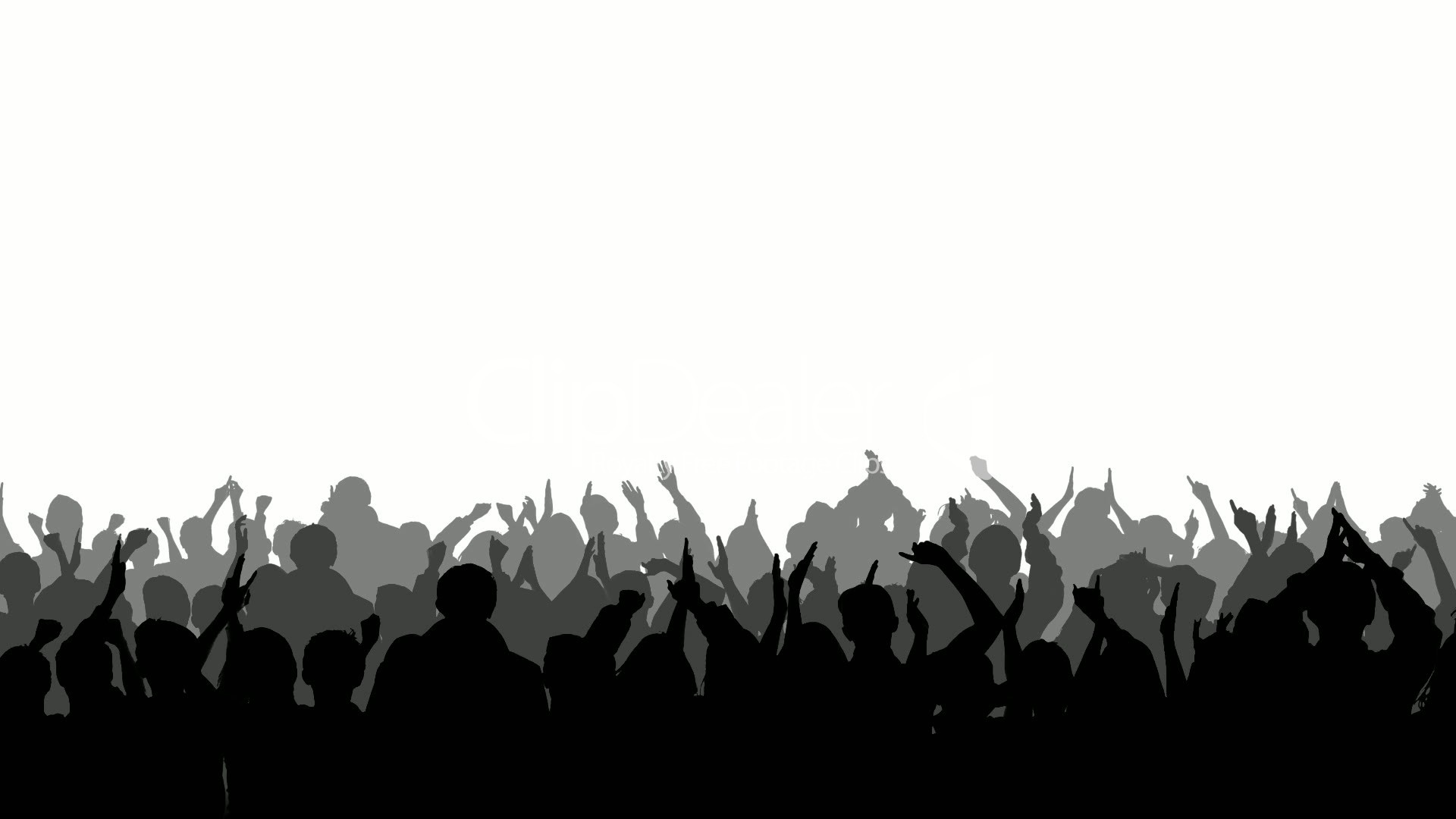 Crowd clipart cheered. Silhouette free collection download