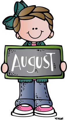 Free month clip art. August clipart