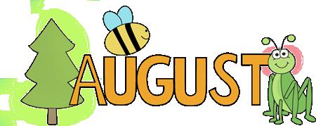 Clip art images month. August clipart