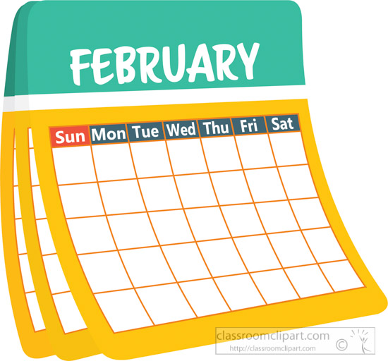 February clipart. Search results for calendar