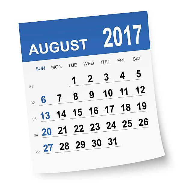 Calendar station . August clipart august 2017