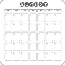 Free calendar clip art. August clipart august 2017